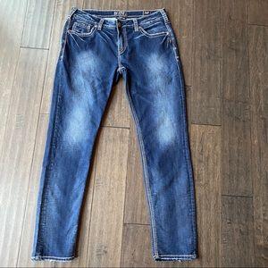 Silver Boyfriend Joga Jeans Skinny Leg Soft 32 x29